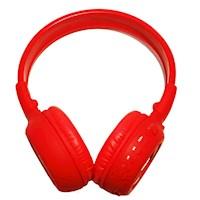 Audífono DJ N65 Bluetooth (FM, Micro SD, Pantalla, Micrófono) - Rojo