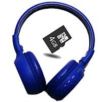 Kit Audifonos Cratos Bluetooth B570C - Azul + Micro SD 4GB