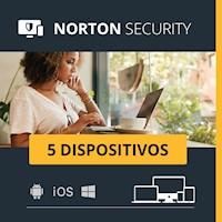 Norton Security para 5 dispositivos Antivirus