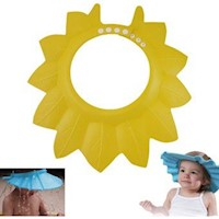 Gorro De Baño Ducha Para Bebé Amarillo Protege Su Cara