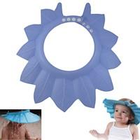 Gorro De Baño Ducha Para Bebé Azul Protege Su Cara