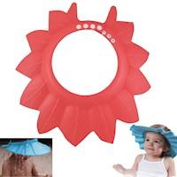 Gorro De Baño Ducha Para Bebé Rojo Protege Su Cara