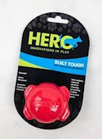 Juguete Hero SIGNATURE SERIES SOFT RUBBER BONE BALL WITH SQUEAKER, LARGE, RED