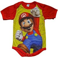 Bodie Body Mameluco Para Bebes Diseño Superheroes Mario Bros