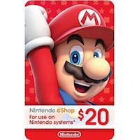 Nintendo Eshop Card $20 USA- Eshop 20 USD [Digital]