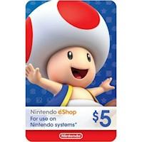 Nintendo Eshop Card $5 USA- Eshop 5 USD [Digital]