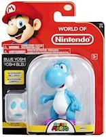 Super Mario Figura Yoshi Azul Incluye Accesorio 10 Cm