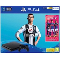 Consola PlayStation 4 Slim Negro 500GB FIFA 19 1 Control