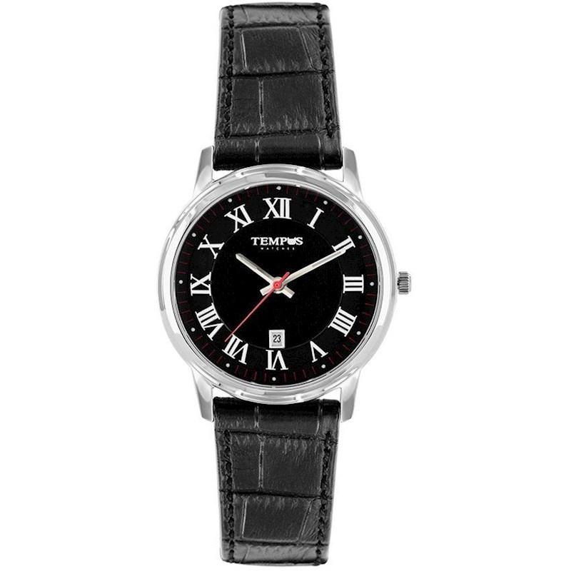 8a3d309ef601 Reloj Tempus para Hombre S00886APP Negro Cuero