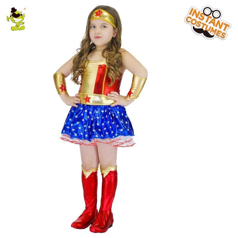 Instant Constumes - Disfraz Mujer Maravilla para niña  bf75dfdba55