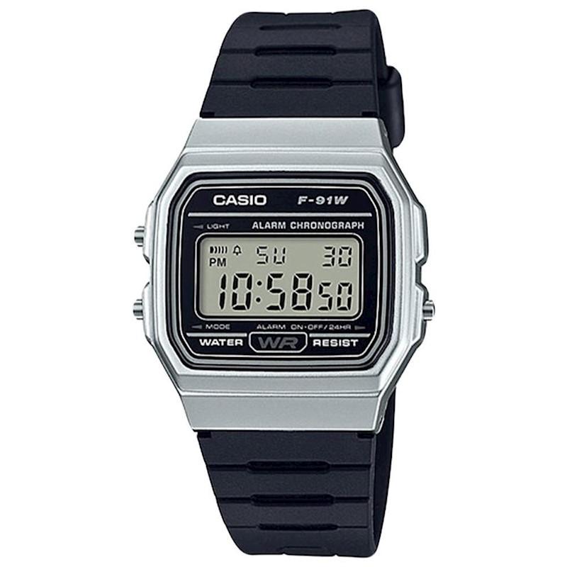 08ccea979e58 Reloj CASIO Retro Plata F-91WM-1B Unisex
