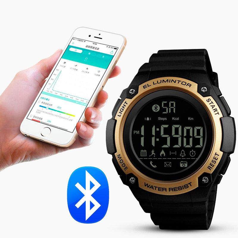 70f842d8c87 Reloj Skmei 1347 Bluetooth Deporte Acuatico Calorías km Cronómetro Android  IOS