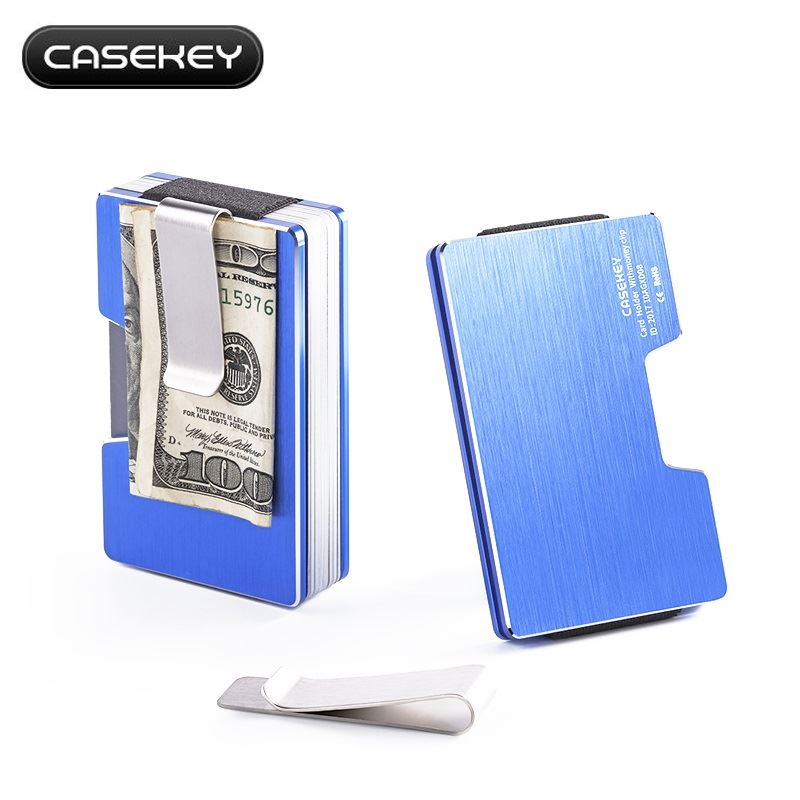 9e52b9181 Billetera Holder Tarjetero CASEKEY - Aluminio Metalico - Azul | Juntoz.com