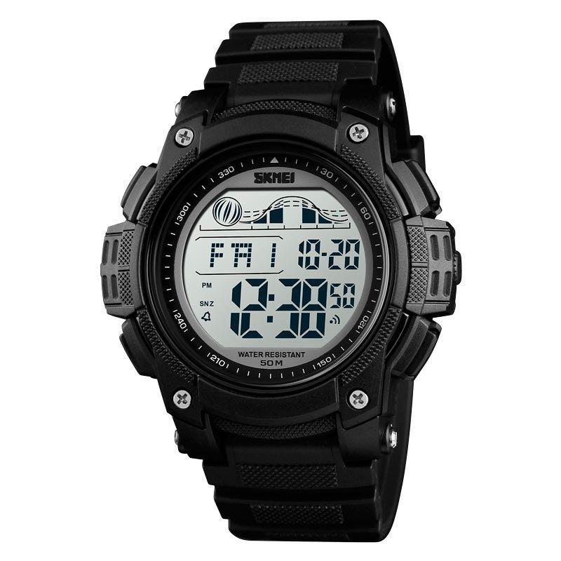 Reloj SKMEI Wave 1372 Deportivo Digital 2 Tiempos Multifunción - Negro  ee0869365bfb