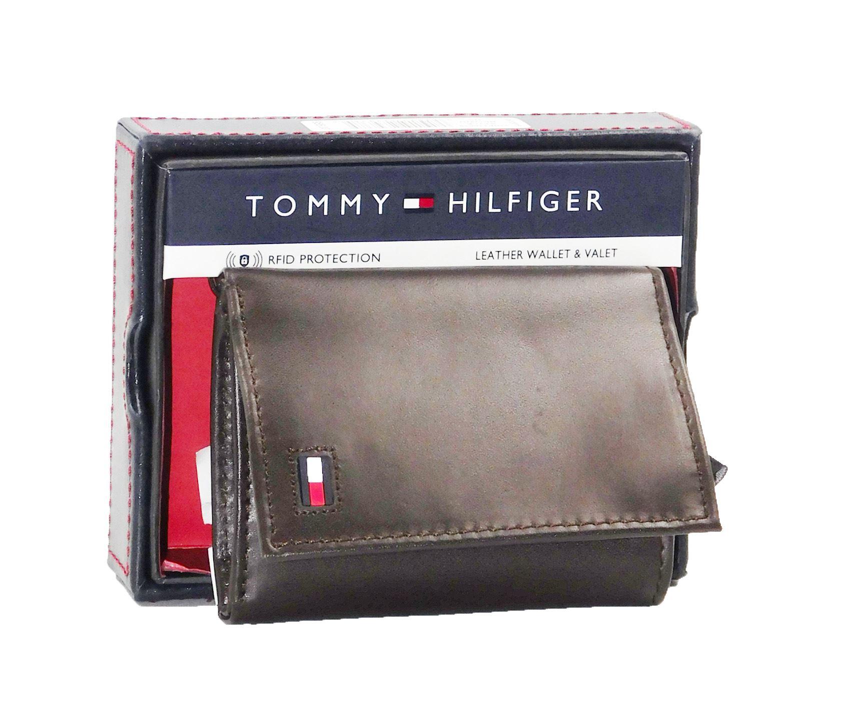 6acf902c5 Billetera Tommy Hilfiger Hombre 3 Cuerpos - Marron | Juntoz.com