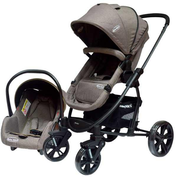 8e91bf92f Baby Kits - Coche travel system 3 en 1 prima plus gris | Juntoz.com