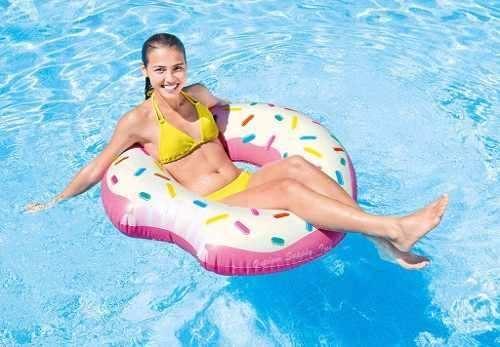 Flotador Dona Inflable Donut Intex Pool Party  1.07mt