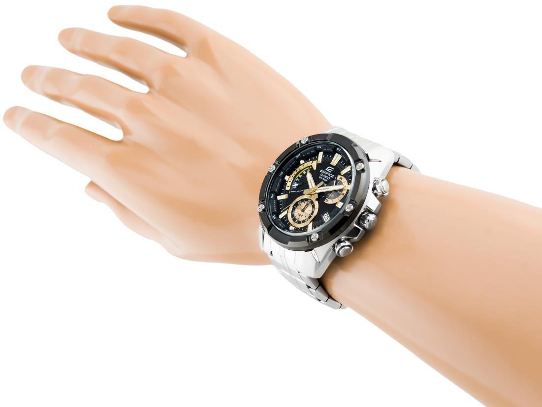 e580023e1c30 Reloj Casio Edifice EFR-559DB-1A9V Analógico - Plateado y Negro ...