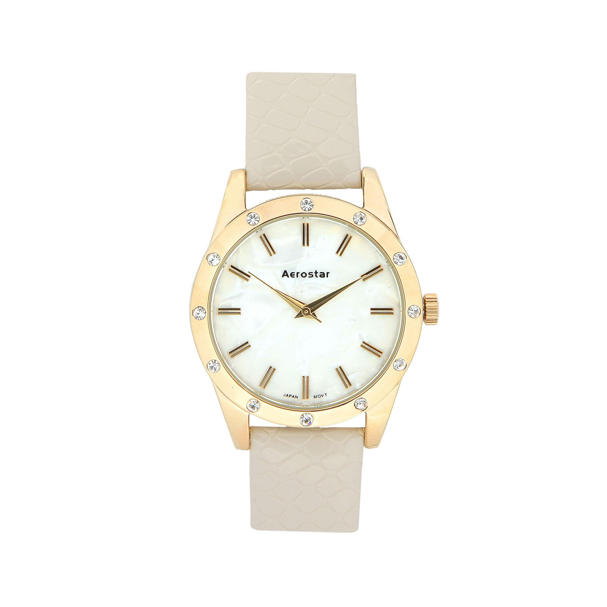 Aerostar - Reloj Dama 63123 Beige  ed0949373e5d