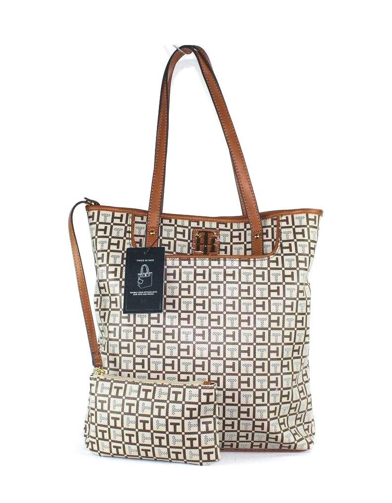abed70a33c6 Cartera Tommy Hilfiger mujer - marron cuadros + neceser