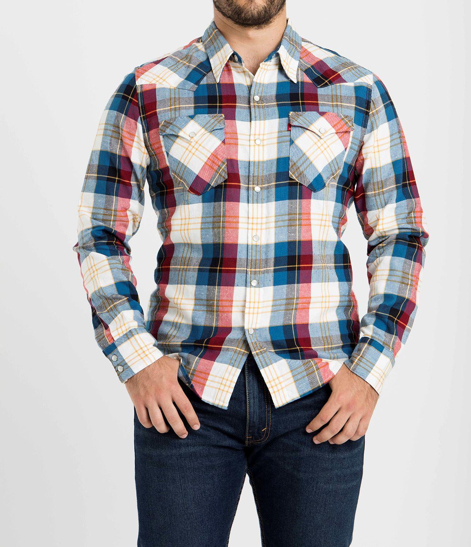 cef5b33e1cecd Levis Camisa Cuadros Cherry Mix para Hombre