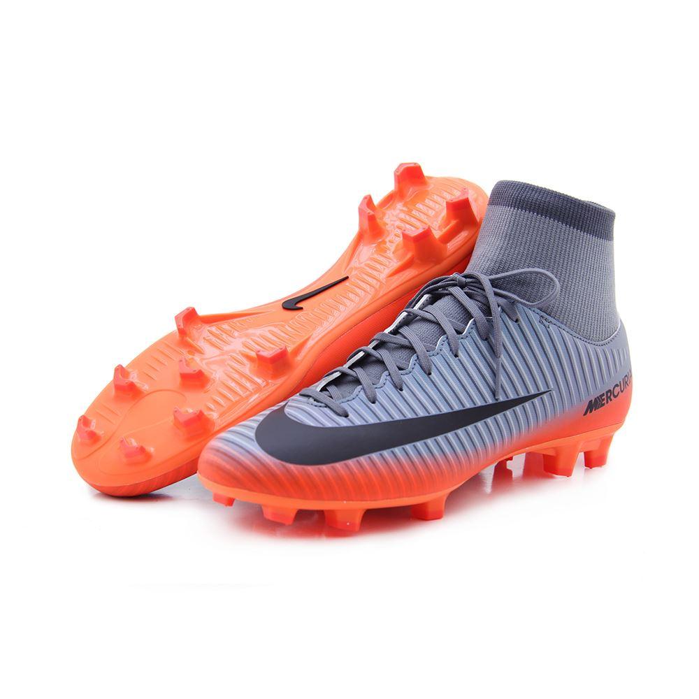 Zapatilla Futbol Nike Para Hombre Plomo   Naranja  d8185b49358be