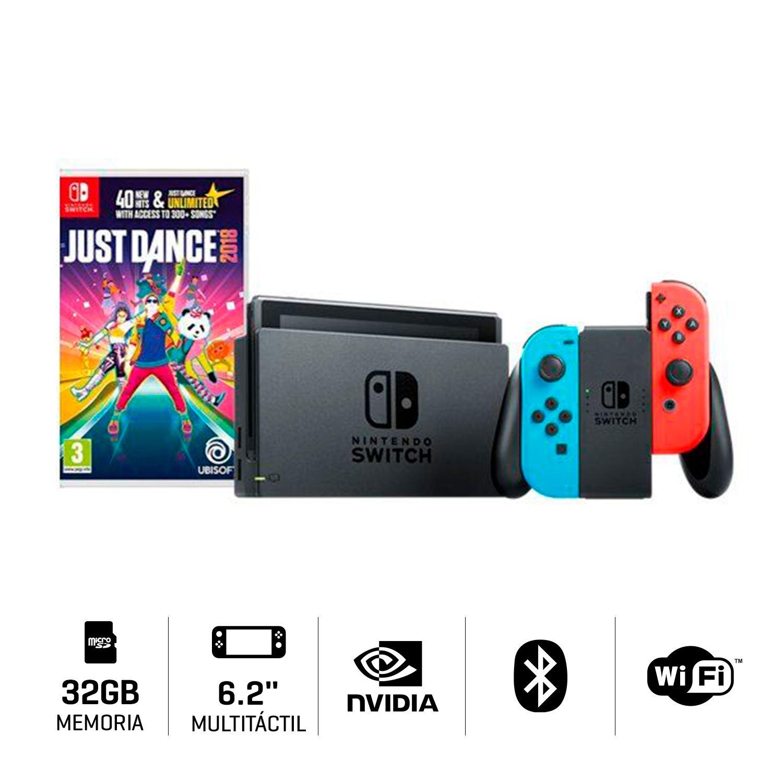 Consola Nintendo Switch Neon Juego Just Dance 2018 Juntoz Com