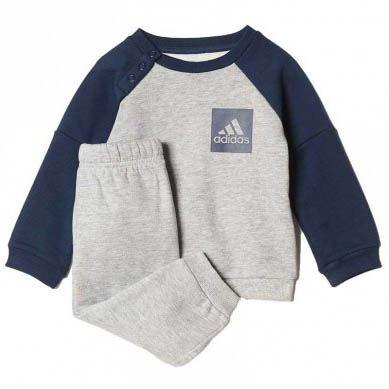 Conjunto Fleece Jogger para Niños color Plomo/Azul   Juntoz.com