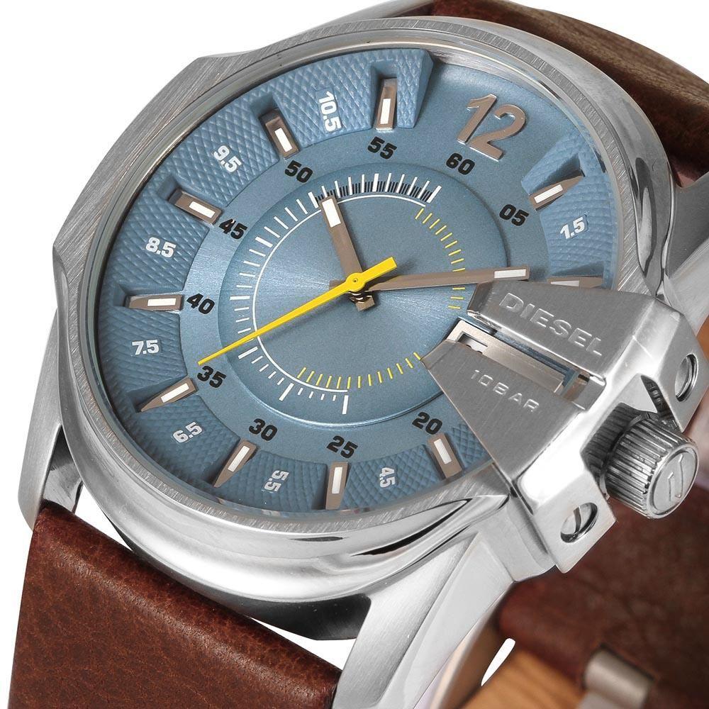 af765158f43d Reloj Diesel Mega Chief DZ1399 Acero Inoxidable Correa De Cuero - Marrón