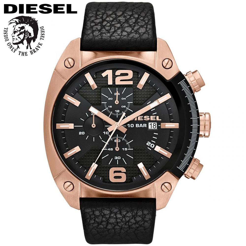 3a3830cf51af Reloj Diesel Overflow DZ4297 Cronometro Acero Inox Correa De Cuero ...