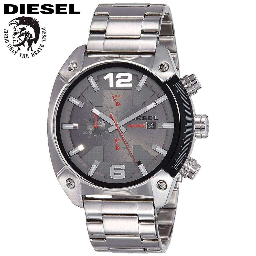 4a2db95ed82d Reloj Diesel Overflow DZ4298 - Analógico Cronometro Fecha – Plateado ...