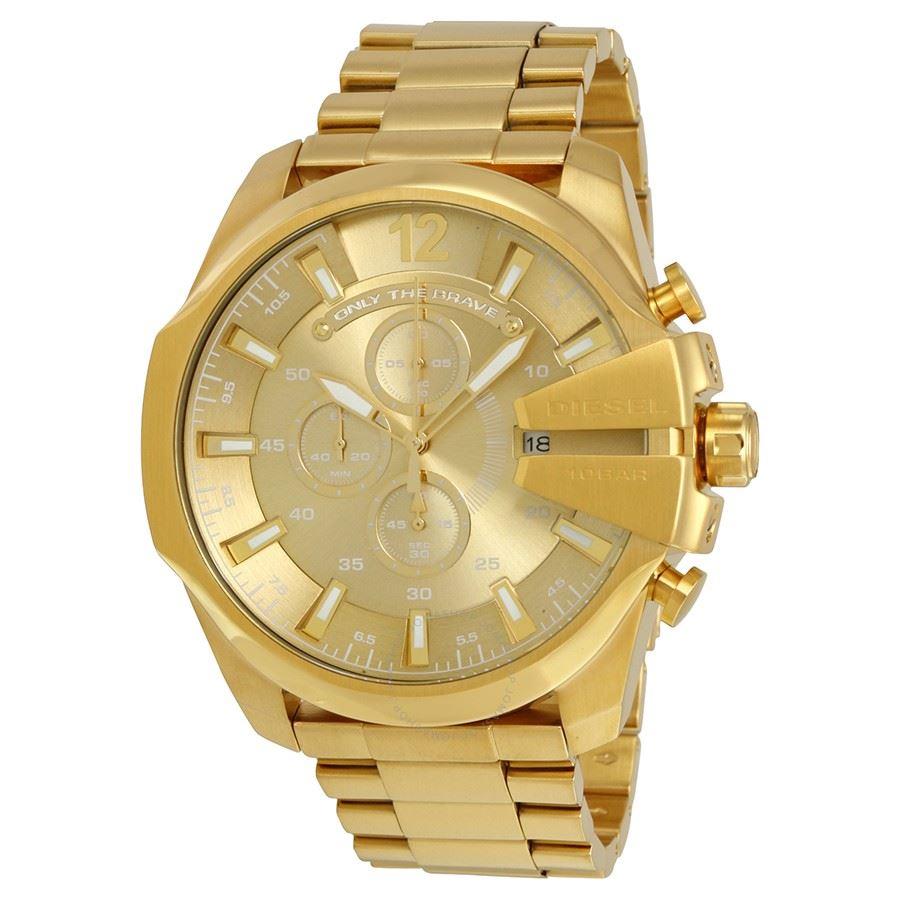 44db6215543b Diesel - Reloj Mega Chief Gold DZ4360 para Hombre
