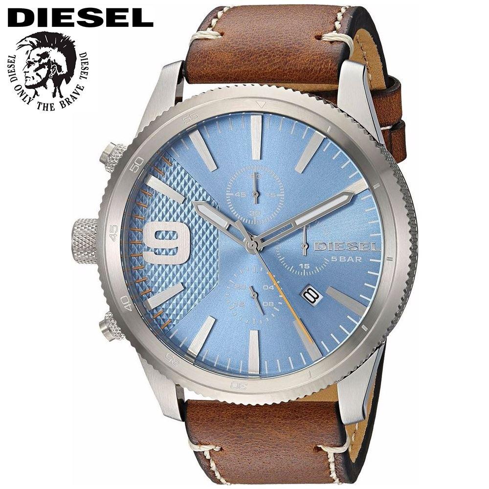 68b6cea9adb1 Reloj Diesel Rasp DZ4443 Acero Inoxidable Correa De Cuero - Marrón ...