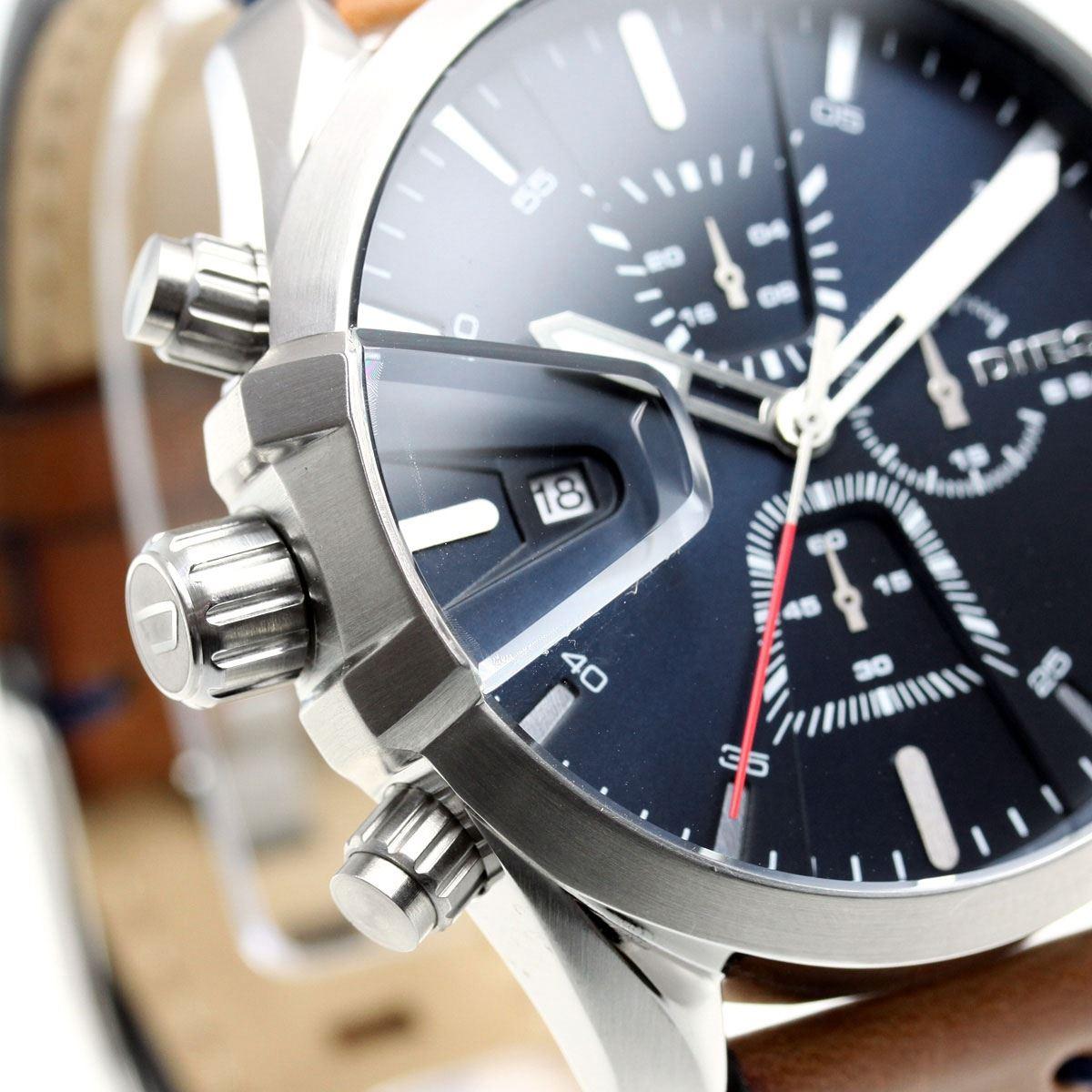 764570a08167 Reloj Diesel MS9 DZ4470 Cronometro Acero Inoxidable Correa de Cuero ...