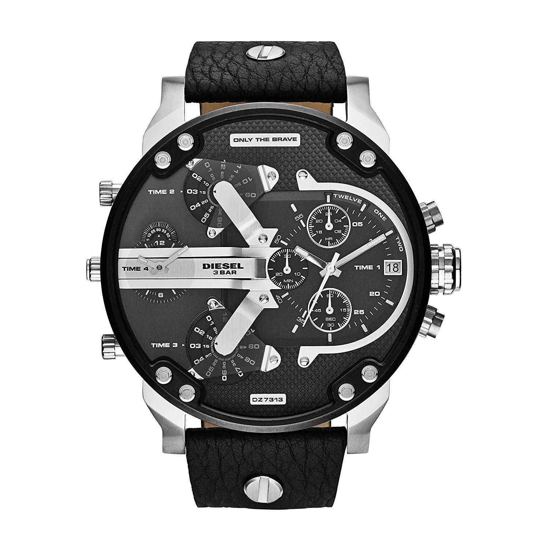 63fe90e25f9d Diesel - Reloj DZ7313 Mr Daddy 2.0 Stainless Steel para Hombre ...