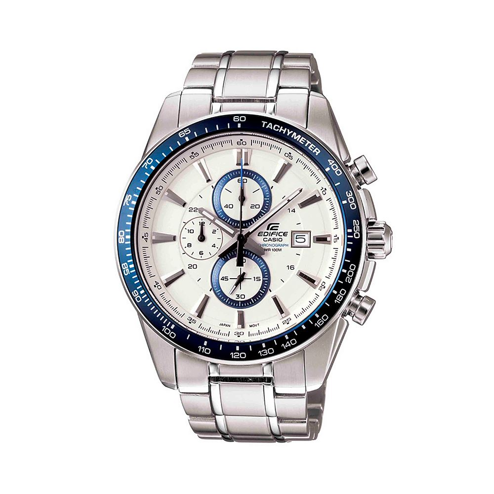 eb893dc648da Reloj Casio Edifice EF-547D-7A2VDF Correa De Acero Inoxidable Para Hombre +  caja