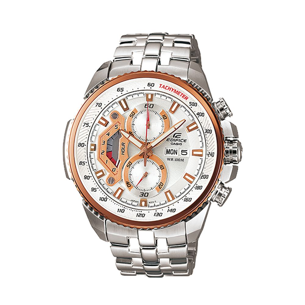 439746e0af61 Reloj Casio Edifice EF-558D-7AVDF Correa De Acero Inoxidable Para Hombre