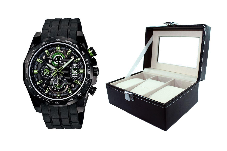 62c53b5d931d Reloj Casio Edifice EFR-523PB-1AVDF Correa De Jebe Reforzado Para Hombre +  caja