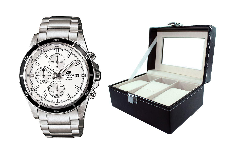 4a24db5cf5d Reloj Casio Edifice EFR-526D-7AVDF Correa De Acero Inoxidable Para Hombre +  caja