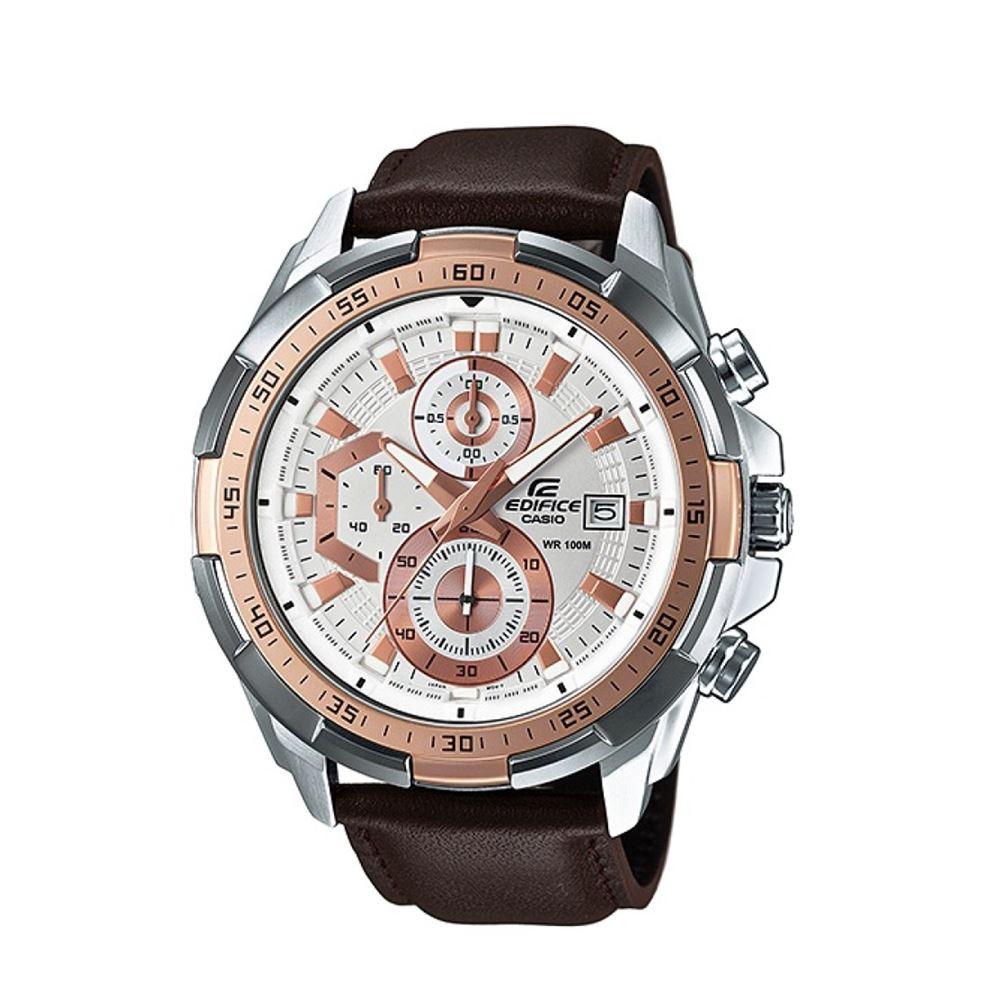 6bb62a812d9a Reloj Casio Edifice EFR-539L-7AVDF Correa De Cuero Genuino Para Hombre +  caja