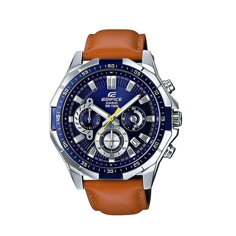 307b0b7d6c1b Reloj Casio Edifice EFR-554L-2AVDF Correa De Cuero Genuino Para Hombre