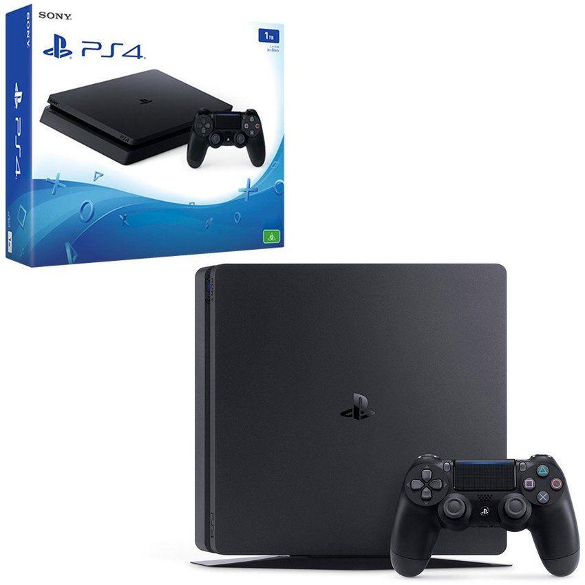 Consola PS4 Slim1TB + PES 2018+Uncharted 4+ 2 ControlesV2