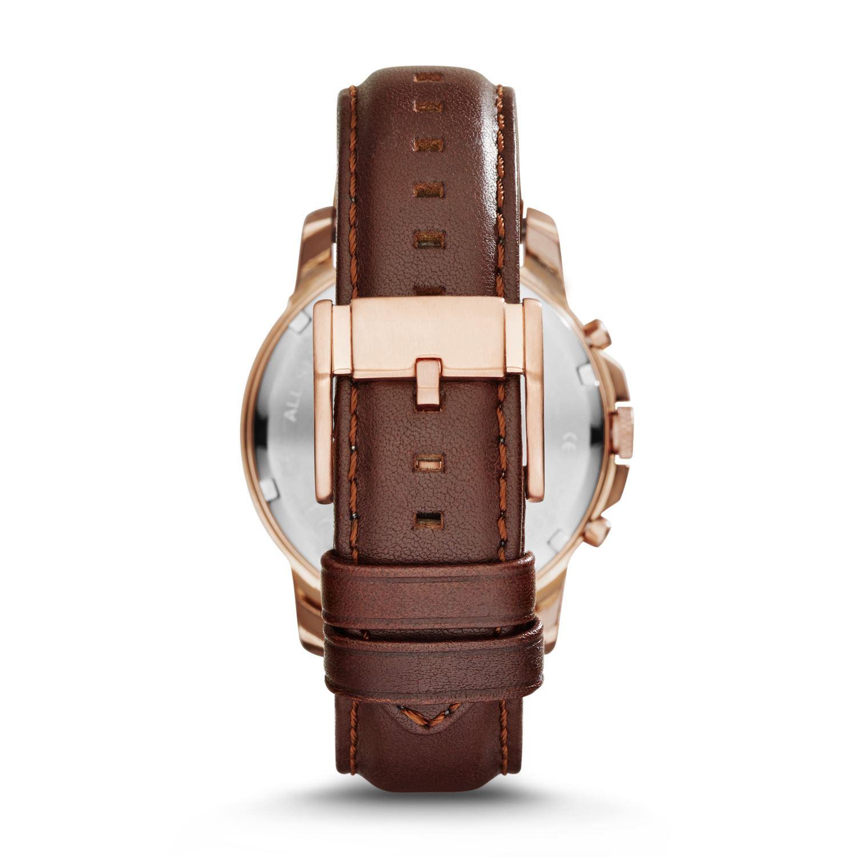 02769fa84304 Fossil - Reloj FS4991 Grant Chronograph Leather para Hombre