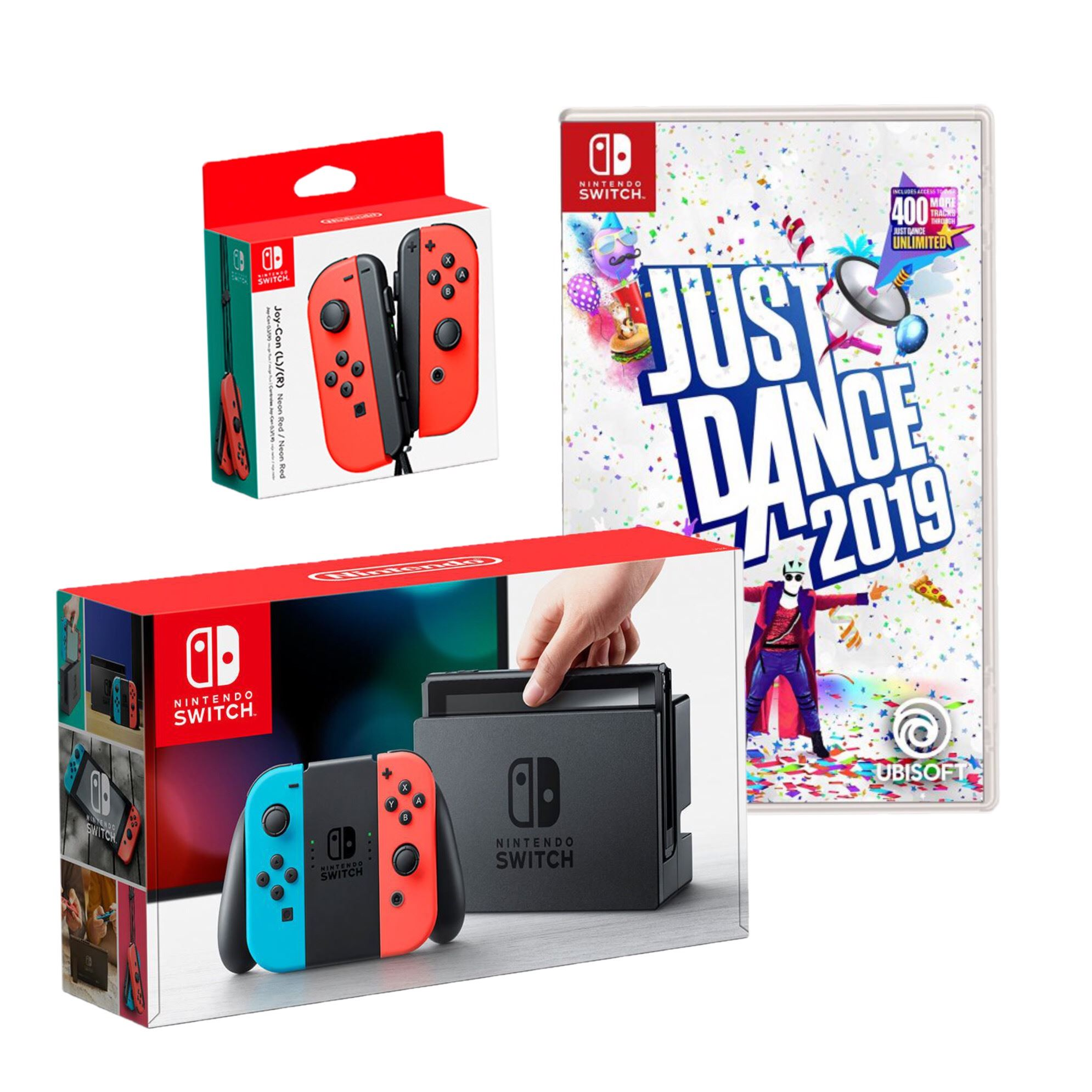 Consola Nintendo Switch Just Dance 2019 Joy Con Rojo Juntoz Com