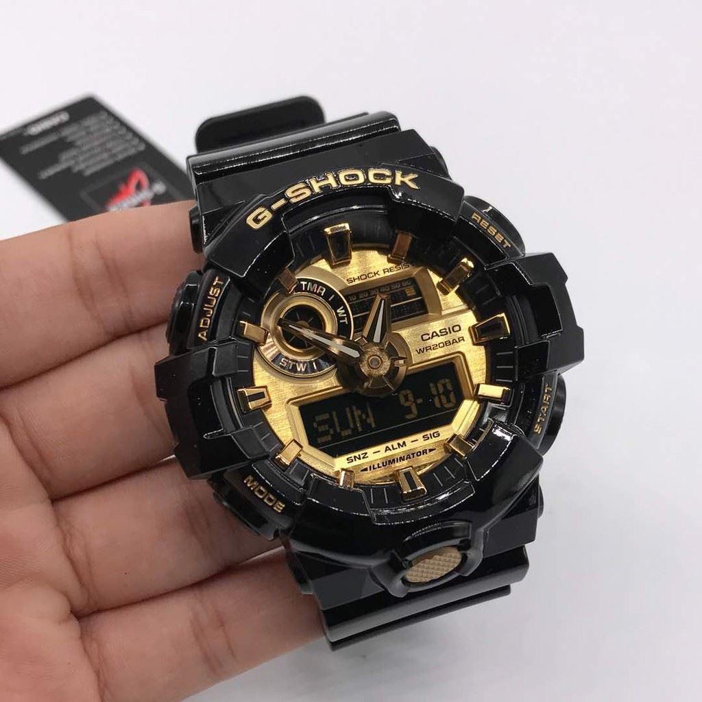 97db94cc95 Reloj Casio G-Shock GA710GB-1A Digital Analógico Acuático Luz LED - Negro  Dorado | Juntoz.com