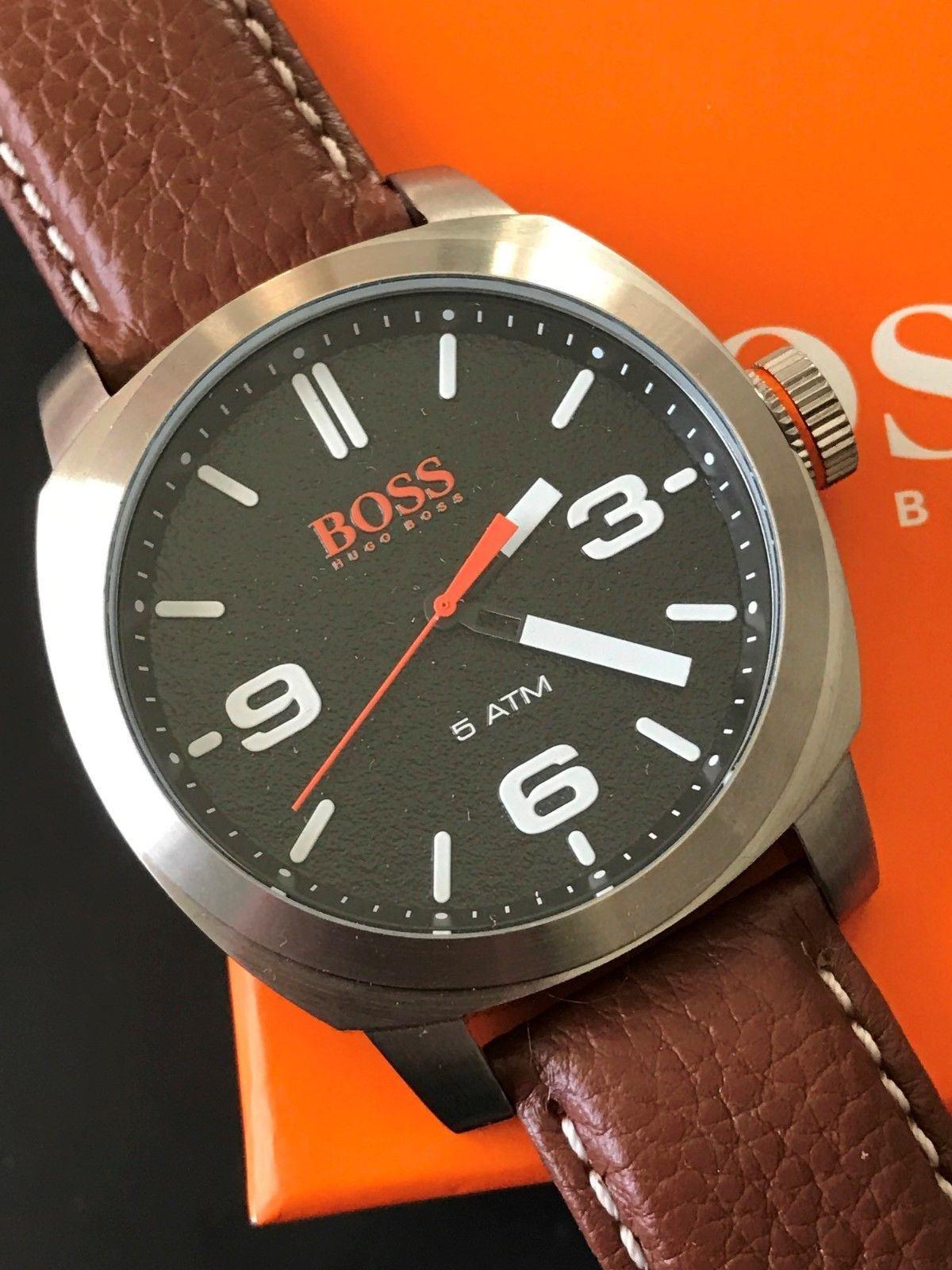 5aa11c44c24e Reloj Hugo Boss 1513408 Cape Town - Acero Inoxidable Correa De Cuero ...