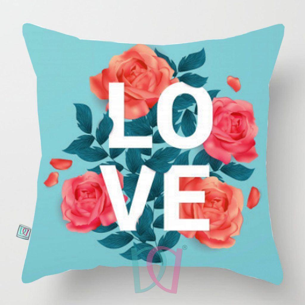 Cojín decorativo amor y amitad LOVE BLUE