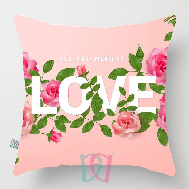 Cojín decorativo amor y amitad LOVE PINK