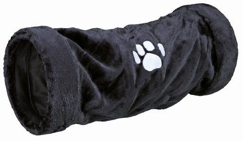 Tunel Juegos Gatos Trixie Peluche Negro Medium