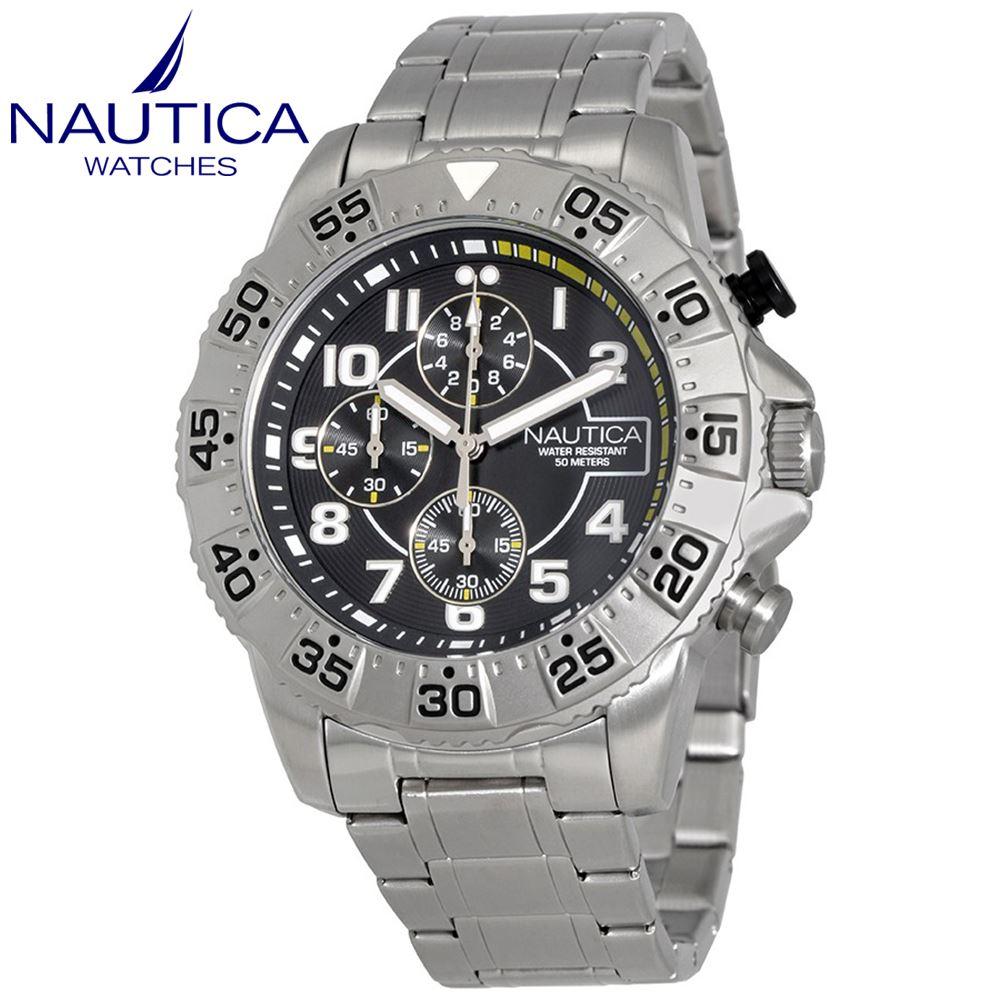 Reloj Nautica NSR 104 Cronometro Acero Inoxidable NAD16004G  13a669101a07